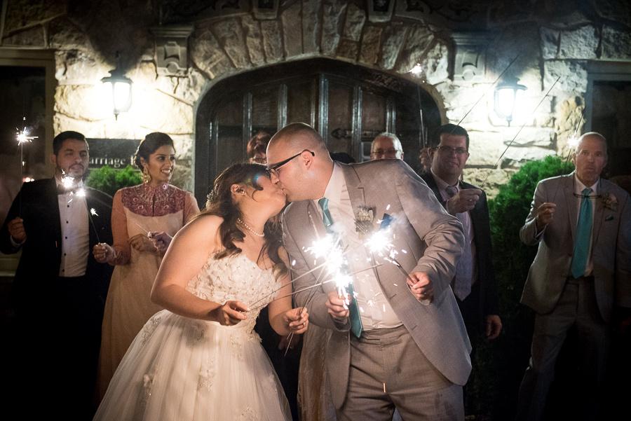 sparklers kissing