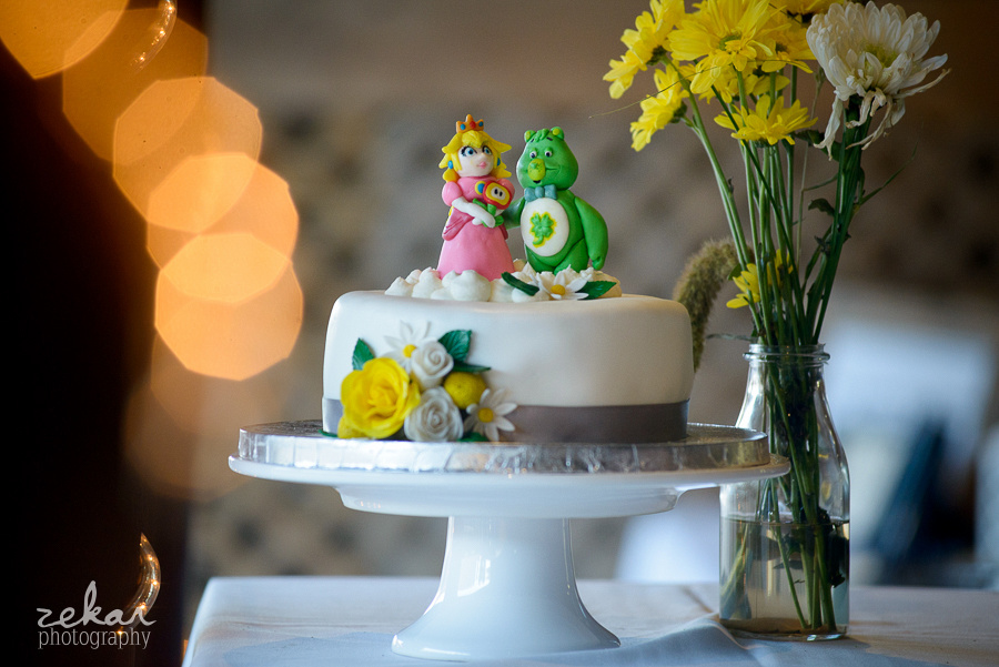 princess peach and lucky bear cake topper