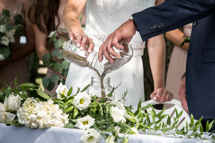 outdoor farm wedding ceremony