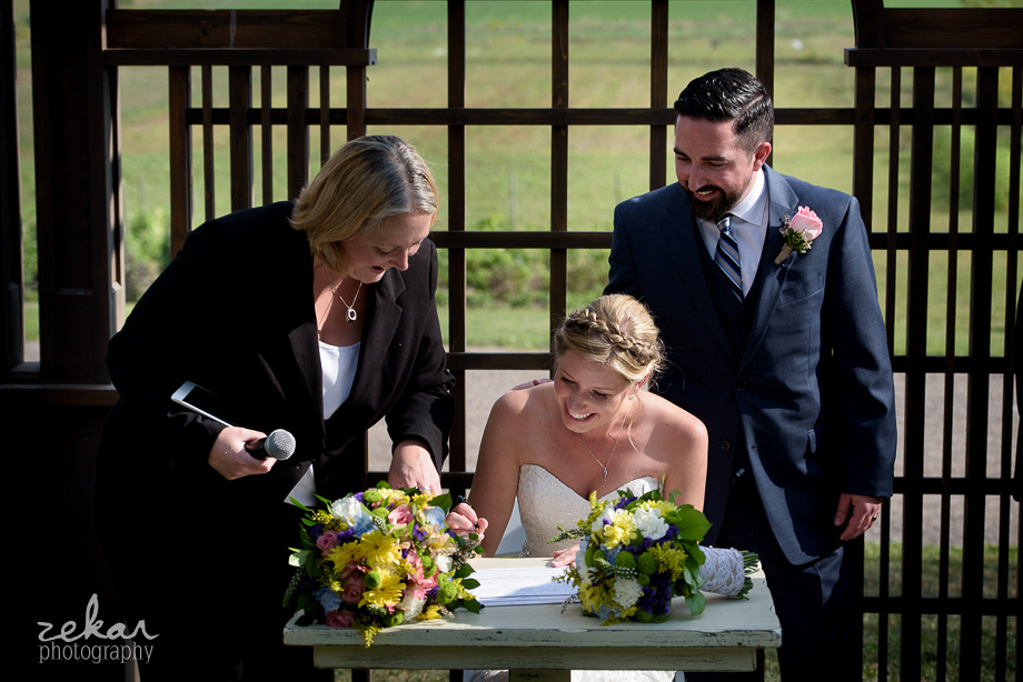 couple signing registry