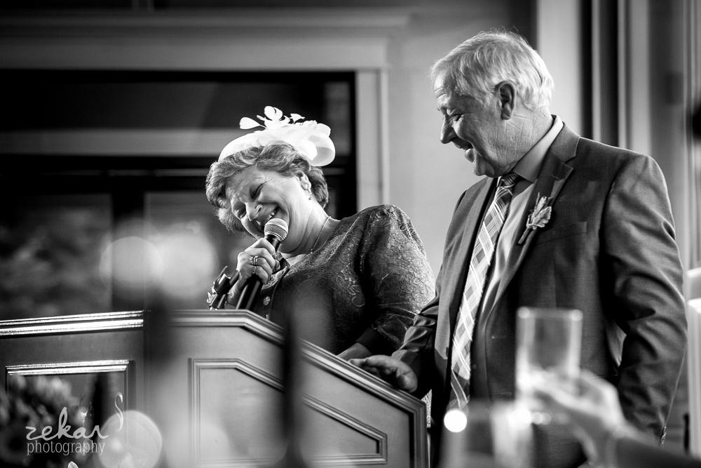 mother of groom giving speech