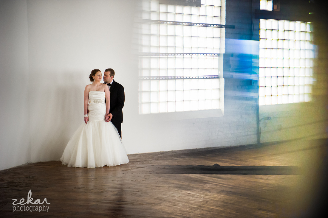 bride and groom prism effect
