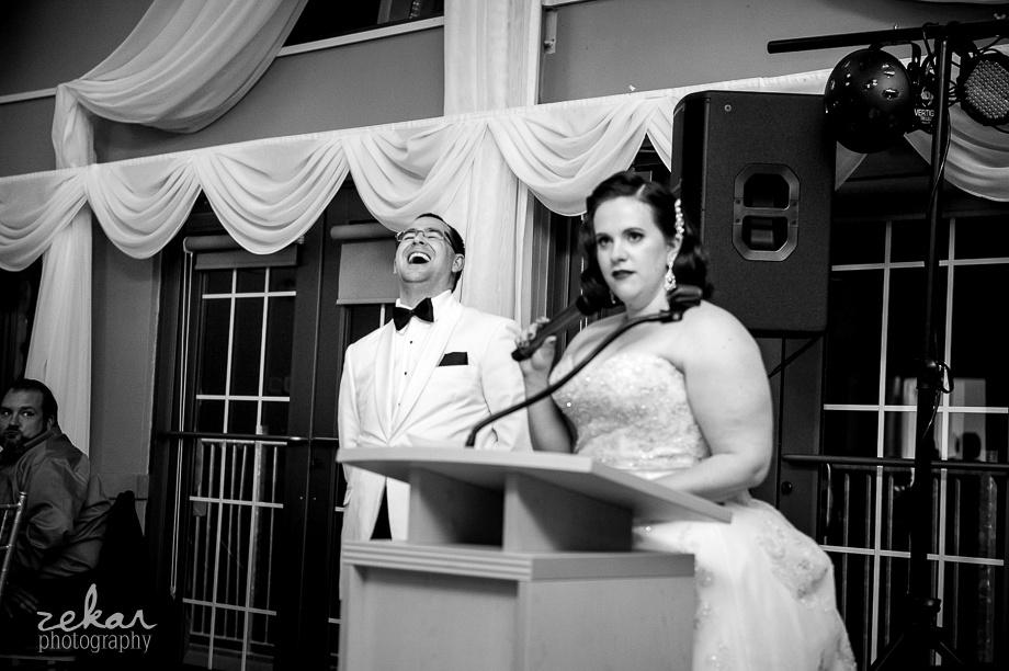 bride telling funny speech