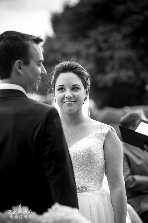 bride gazing at groom