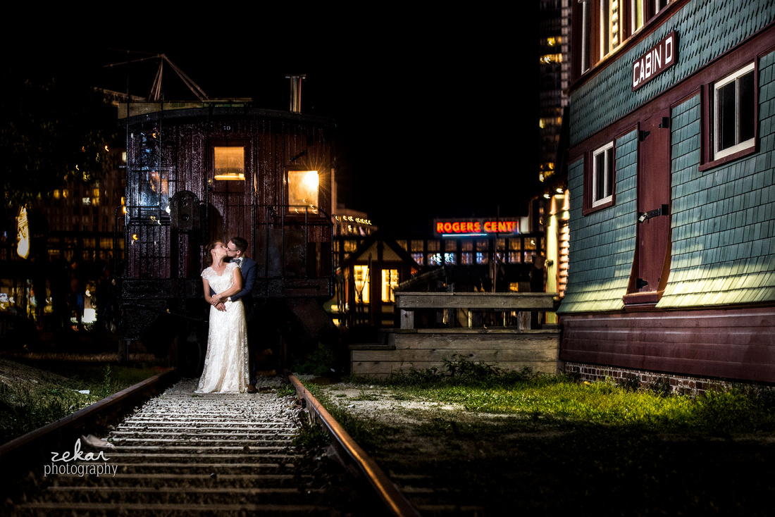night time wedding photography toronto