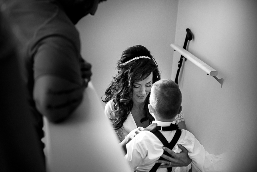 bride loving little kid