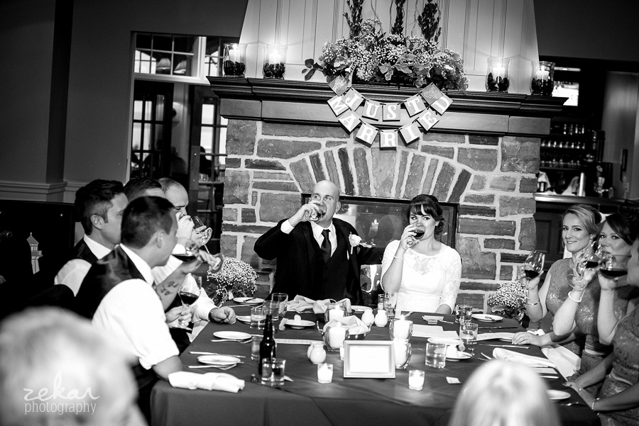 cheers at reception
